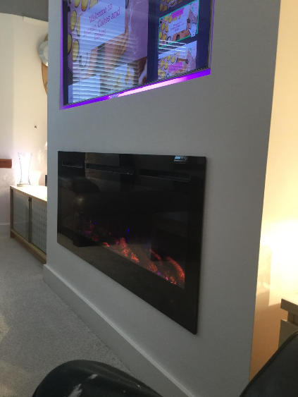50 inch large wall mounted electric fire