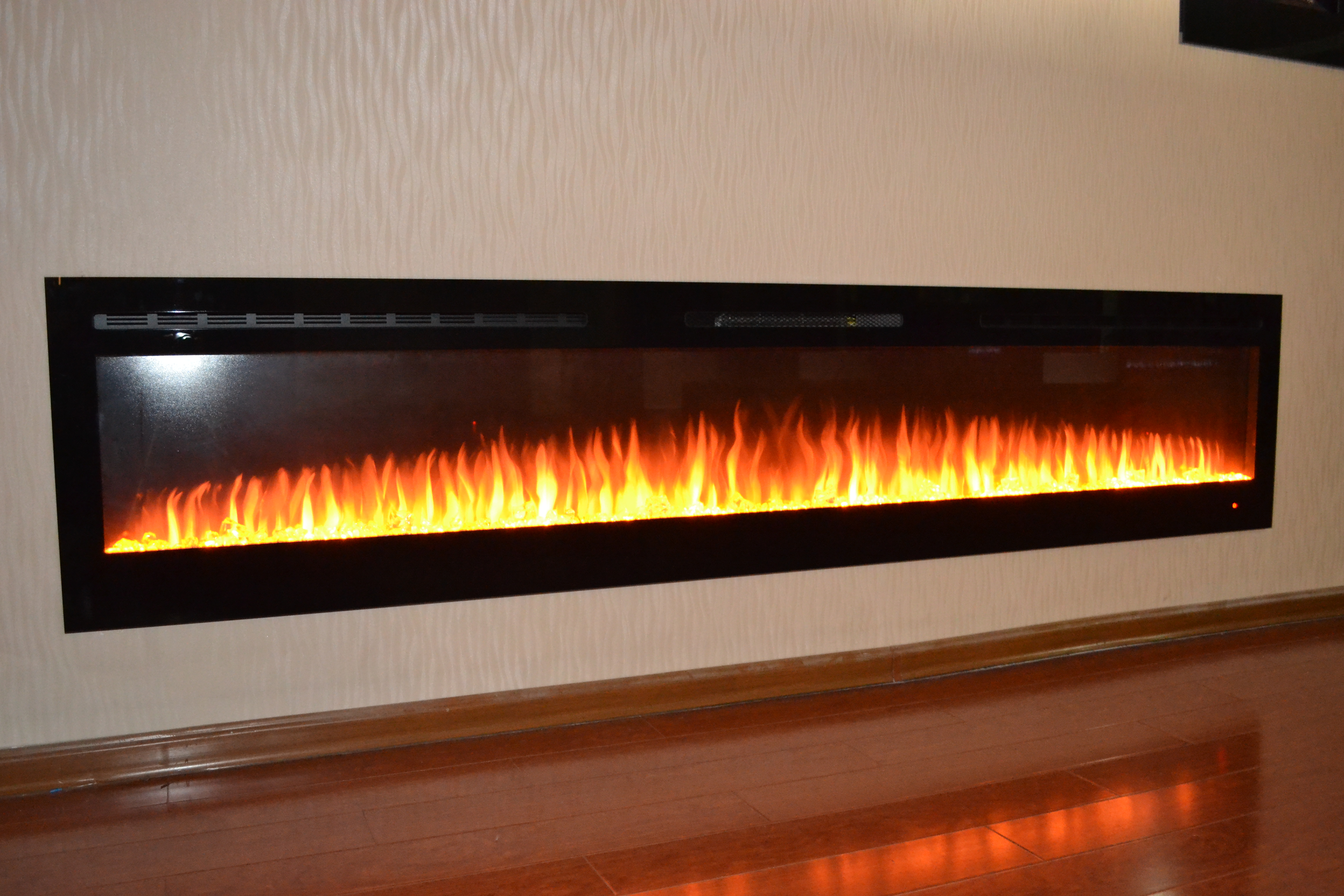 72 inch premium truflame wall mounted electric fire