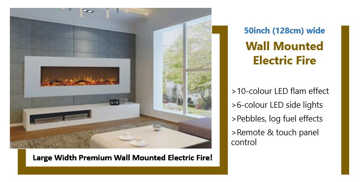 discounted large white wall mounted electric fire