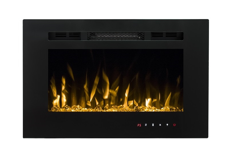 PREMIUM PRODUCT 26inch Black Wall Mounted Electric Fire with 3 colour Flames