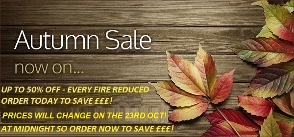 Autumn wall mounted electric fire sale