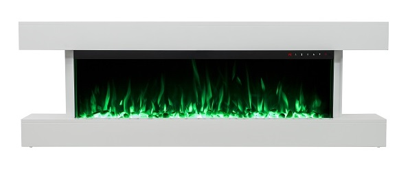 2018 NEW PREMIUM PRODUCT 60inch White Wall Mounted Electric Fire Suite