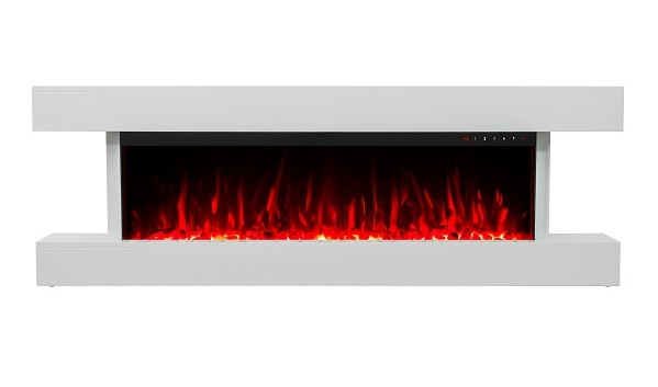 White Wall Mounted Fire: 2019 NEW PREMIUM PRODUCT TruFlame 60inch White Wall