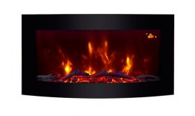 TruFlame wall mounted electric fire with logs colour flame 5