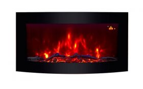 TruFlame wall mounted electric fire with logs colour flame 4
