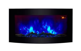 TruFlame wall mounted electric fire with logs colour flame 6