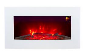 New LED menu on wall mounted electric fire