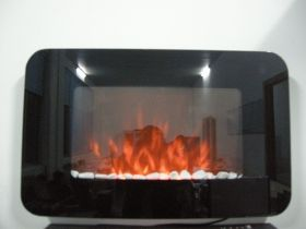 TruFlame Wall Mounted Flat Glass Electric Fire with Pebble Effect (90cm wide)