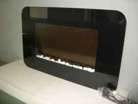 TruFlame Wall Mounted Flat Glass Electric Fire with Pebble Effect (90cm wide) side view