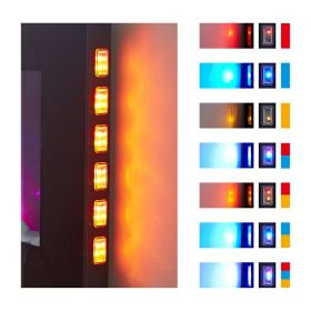 TruFlame LED Side Lit (7 colours) Wall Mounted Flat Glass Electric Fire with Log and Pebble Effect new features diagram