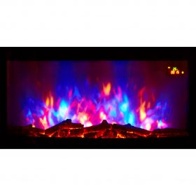 TruFlame wall mounted electric fire with logs colour flame 3